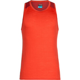 Icebreaker Amplify Top sin Mangas Hombre, chili red/sienna